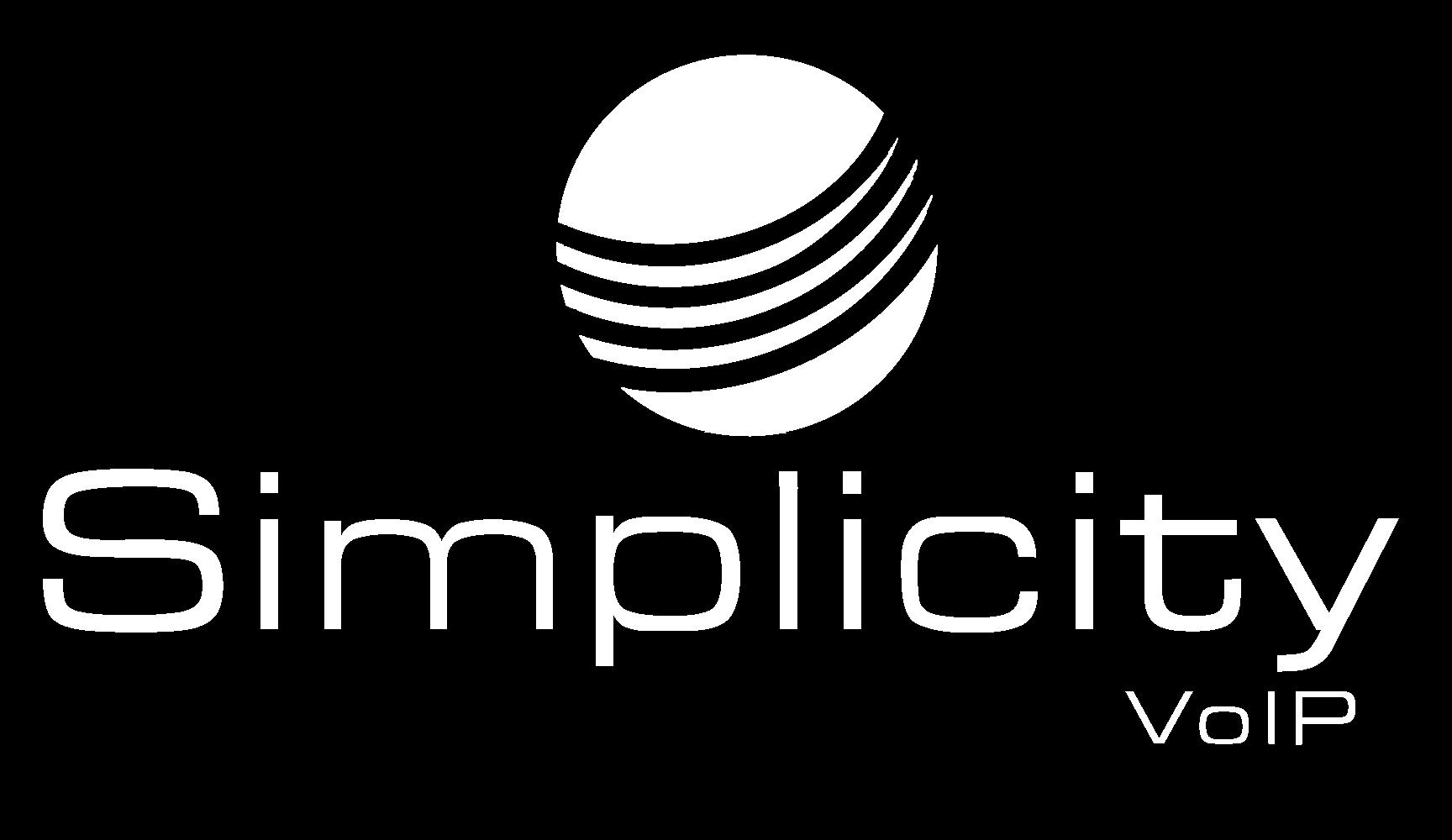 Simplicity VOIP Logo White