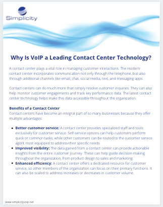 VoIP Technology for Contact Centers